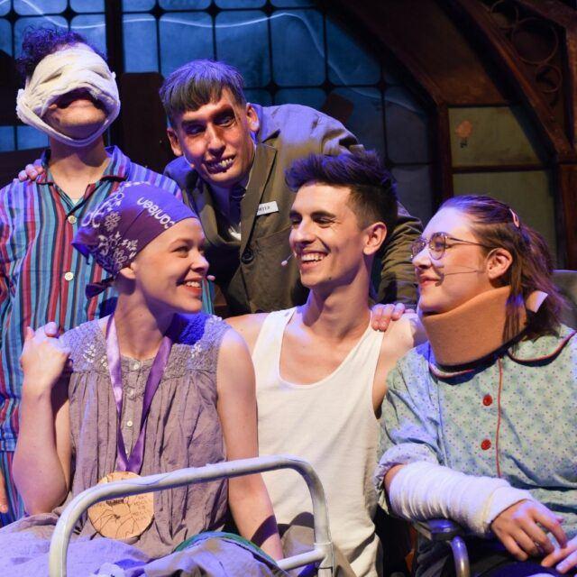 The Midnight Gang - Nicholas Starte, Lucy Heffernan, Kyle Kaczmarczyk, Alex Beauman, Emma Kew (2019 - 2020 Cast). Photo by Heidrun Löhr