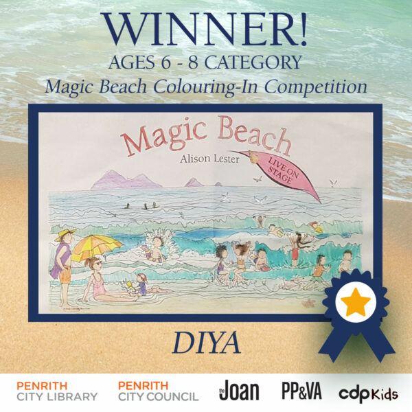 Magic Beach Colouring-In Competition Winner - Diya