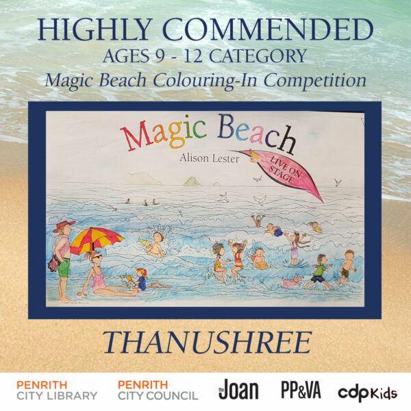 Magic Beach Colouring-In Competition - Thanushree