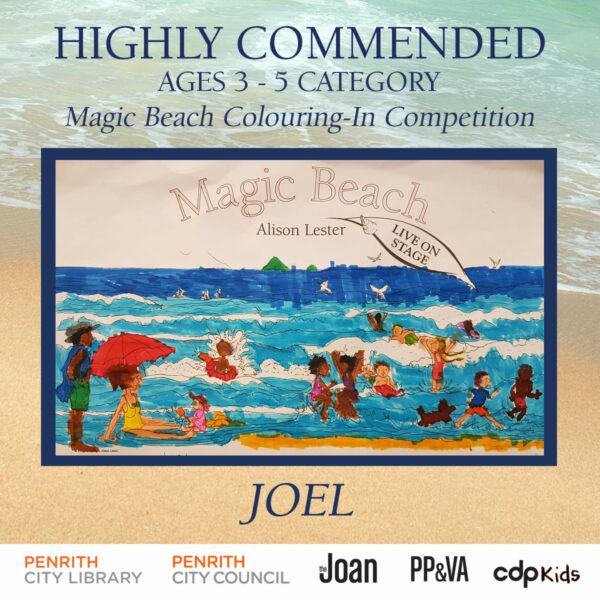Magic Beach Colouring-In Competition - Joel